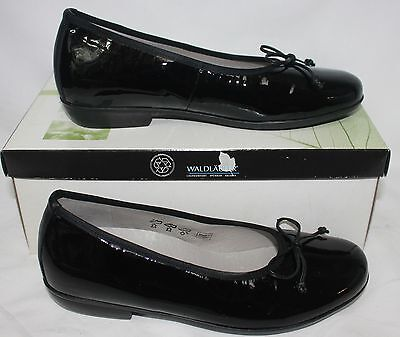 Waldlaufer Women/'s Hestia ballet flat shoes Black Patent Leather New With Box