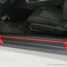2015-2017 Dodge Challenger 2pc Door Sill Step Protector Threshold Shield Pads