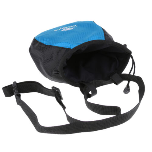 Chalk Bag with Quick-Clip Waist Belt for Rock Climbing Weightlifting Blue