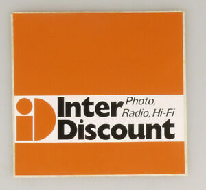 PRL) ID INTER DISCOUNT PHOTO RADIO HIFI ADESIVO COLLEZIONE STICKER COLLECTION