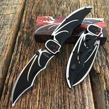 Black BAT Knife Spring Assisted Open Pocket Knife New Bat Man Razor Tactical