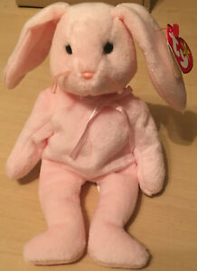 Ty Beanie Babies 1996 Hoppity the Rabbit With Mint Tags and Errors