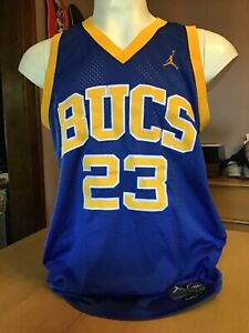 new concept 1b390 6abf6 Details about NIKE MICHAEL JORDAN LANEY BUCS HIGH SCHOOL JERSEY large  STITCHED