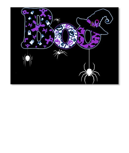 Details about  /Halloween Boo Witch Hat Pancreatic Cance Sticker Landscape