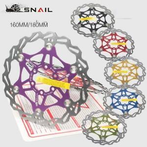 Snail-Bike-Bicycle-Disc-Brake-Floating-Rotor-MTB-For-SHIMANO-AVID-160mm-180mm