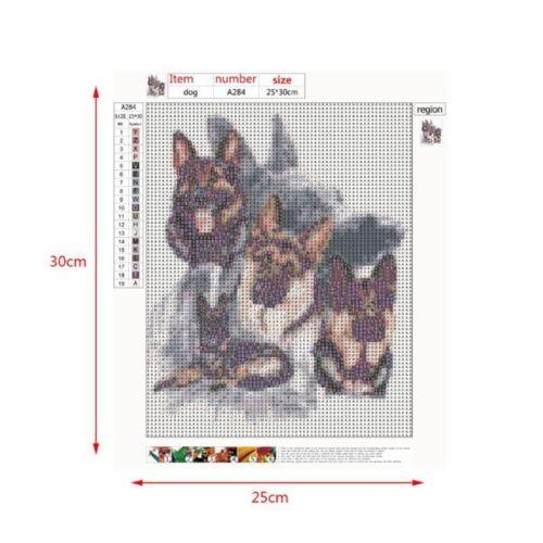 Super Perro Taladro Completo Hágalo usted mismo 5D Diamante Pintura Bordado Cross Stitch Kit Arte Pug