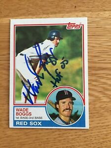 Red Sox Wade Boggs signed 1983 Topps ROOKIE CARD