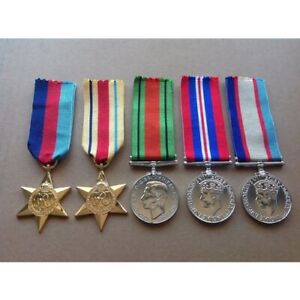 AUSTRALIAN-WWII-MEDAL-GROUP-AFRICA-STAR-ANZAC-WORLD-WAR-II