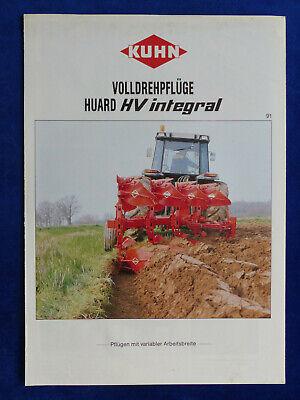 Kuhn Huard HV integral Volldrehpflüge 0139 Prospekt Brochure 05.1991