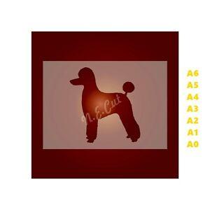 POODLE-Dog-Stencil-350-micron-Mylar-not-Hobby-stuff-DOGS093