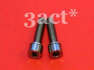 Ti Bolt For Thomson Ritchey FSA Bontrager Stem 6 pcs Black M5 x 16mm Titanium