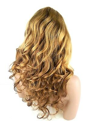 """Brazilian Remy Human Hair Full Lace Ombre Wig 20"""" Wavy color#20/144 150% density"""