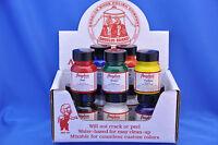 Angelus Acrylic Leather, Vinyl Paint Starter Kit- 12 Bottles, 12 Colors- 1oz
