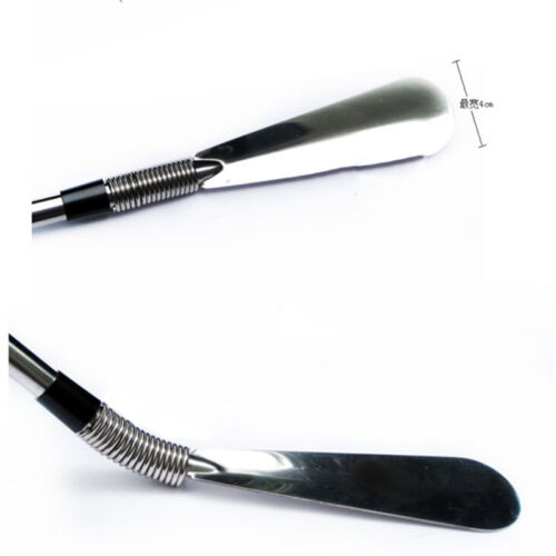 Neuer langer Griff Schuhlöffel Schuh Horn AID Stick Silber Edelstahl 58cm ^