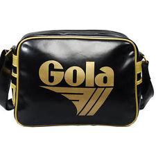 Para Hombre Gola Redford Retro Clásico Messenger Bag-Black & Gold