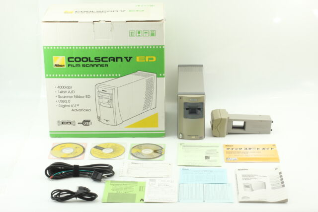 [Almost Unused] Nikon Coolscan V LS-50 ED Film Scanner w/ MA-21 SA-21 from Japan