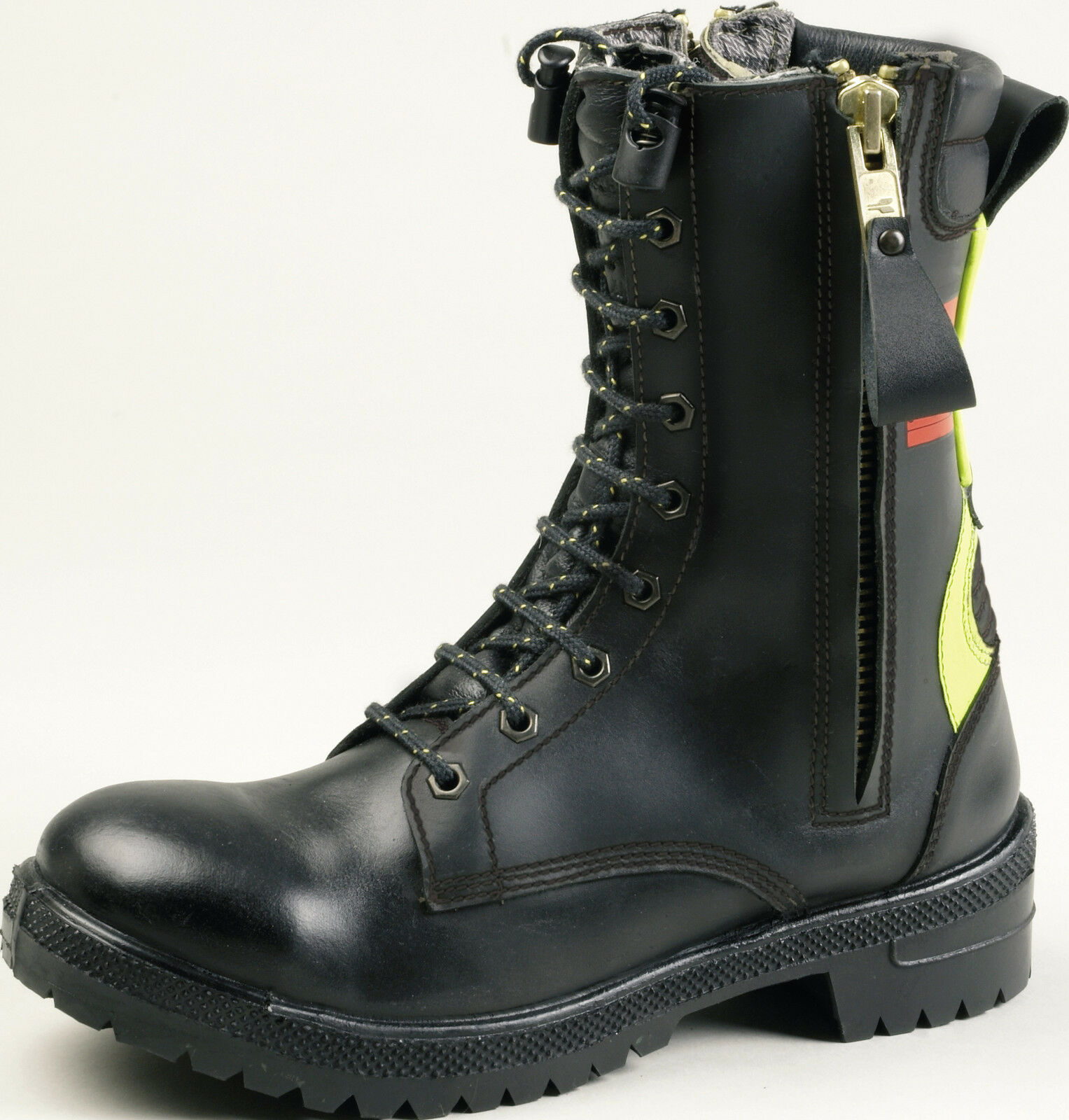 Tuffking 3104 Ranger Mens Firefighters Black Double Zip Safety Boots F2A EN15090