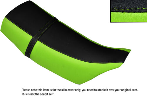 DESIGN 2 LIGHT GREEN /& BLACK CUSTOM FITS KAWASAKI KLR 250 84-01 DUAL SEAT COVER