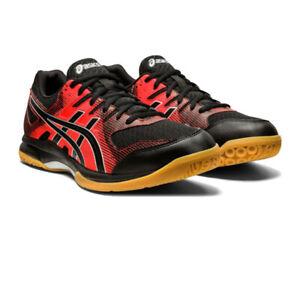 Asics Homme Gel-Rocket 9 Intérieur Cour Chaussures Noir Rouge Sports Squash Badminton