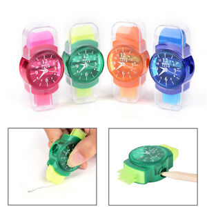 Uhren Sliced Bleistiftspitzer mit Radiergummi Pinsel für Office SchoolSupplie— Fußball