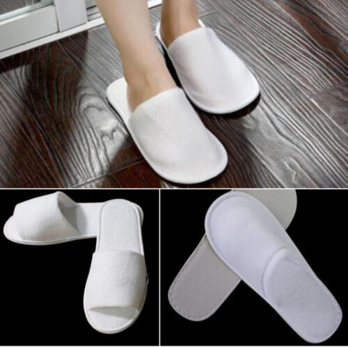 Cheap 10 pairs Wholesale Women Men Disposable Hotel Slippers Open Toe SPA Guest Party for cheap