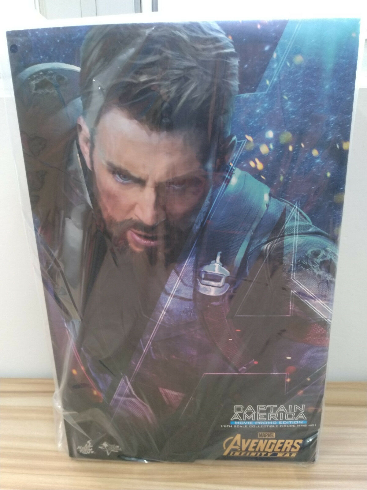 Hot Toys MMS481 Avengers Infinity War Captain America Movie Promo Edition Figure