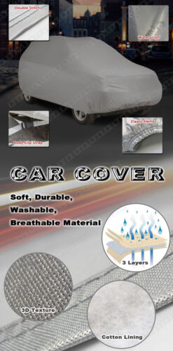 Fit Jaguar Waterproof Car Cover Soft Cotton Inlay Anti Outdoor//Indoor Protect