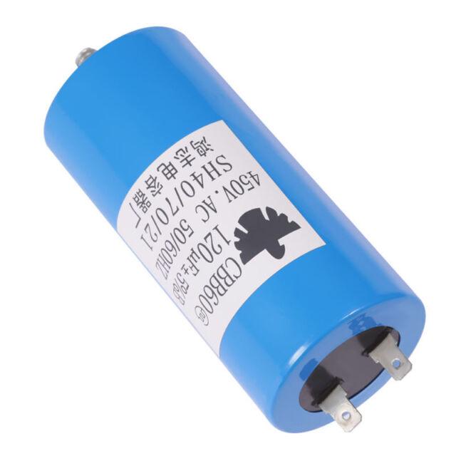 Brand New Run Capacitor 120uF 50//60Hz Blue UL listed W//Fixing Stud CBB60 450V AC