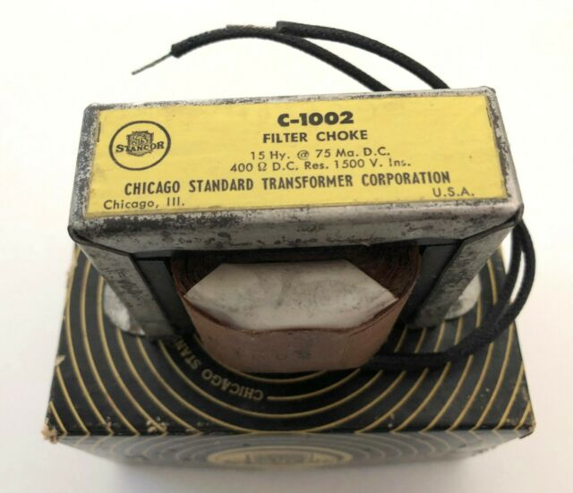 Vintage Stancor Filter Choke Transformer C-1002 - 1950s NOS in Box