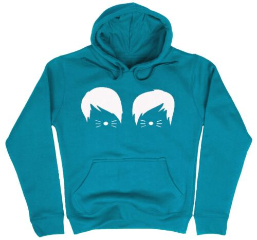 Womens Dan And Phil Cats Whiskers Vlogger Printed Hoodie Casual Pullover Jumper
