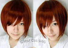 Vocaloid Meiko Red Brown Short Cosplay Wig Free Shipping+Wig Cap