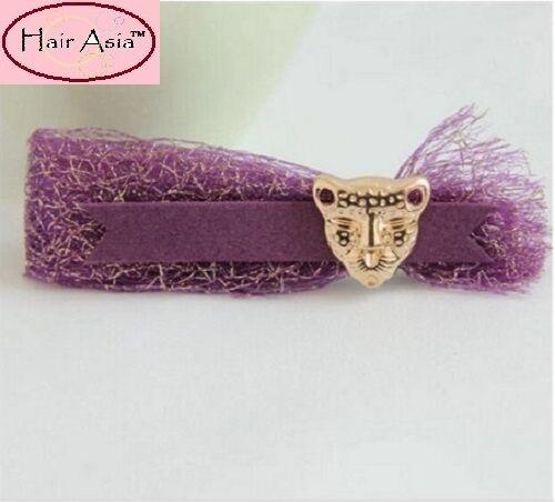 "The Purple Leopard 3.5/"" handmade barrette by HAIR ASIA"