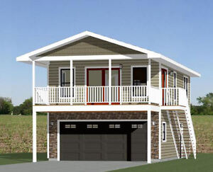20x32 house 2 bedroom 4 12 roof pitch pdf floor for 300 square foot shed