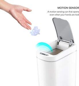 Ninestars Automatic Bathroom Trash Can, Bathroom Garbage Can With Lid