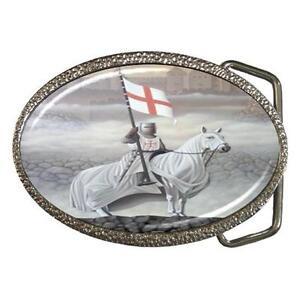 KNIGHTS-TEMPLAR-ON-HORSE-FLAG-CROSS-BELT-BUCKLE-NEW