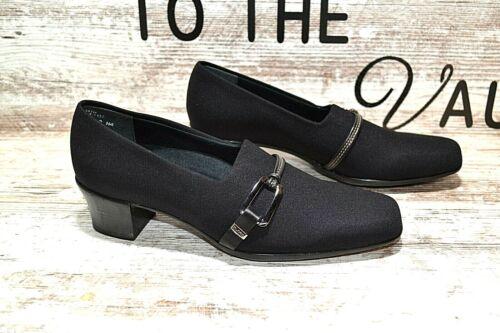 Munro Cindi Black Stretch Fabric Women/'s Heels