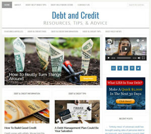 DEBT-amp-CREDIT-RELIEF-affiliate-website-business-for-sale-with-AUTO-CONTENT