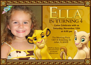 Image Is Loading Personalized Photo Lion King Birthday Invitations