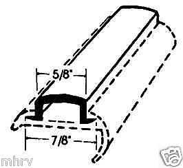 "1/""x50/' HD Brown RV Marine Camper Vinyl Insert Trim Molding Screw Cover 11101"
