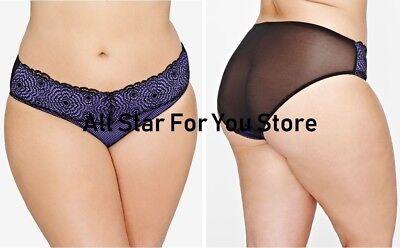 763287 Ashley Graham Purple Rain Plus Size Bikini Panty