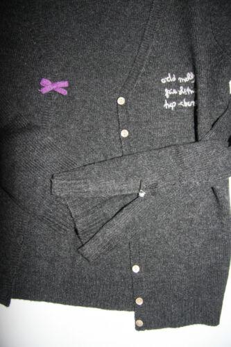 con Odd a collo V s Taglia Cardigan scollo grigio 1 Molly Cardigan collo Nuovo con scuro a 4xFndq