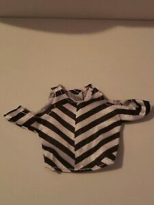 Curvy black /& white stripe fashion outfit For Your Curvy Barbie Doll Au Made