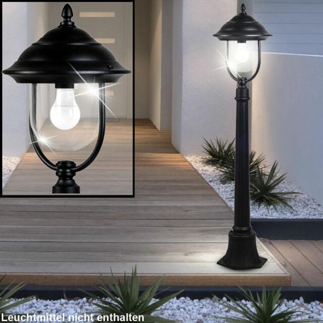 Laterne Garten Hof Einfahrt Lampen Bewegungsmelder Wege Außen Steh Leuchten weiß