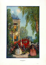 L. SEYBOLD Vintage&Rare 1926 WALDORF Print, HONEYMOON DEPARTURE John Drescher Co