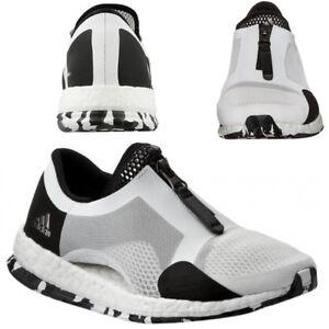 Donna Adidas Slip Ginnastica Nero Da Pureboost Tr Scarpe Zip Bianco On Corsa r8xHt8wq