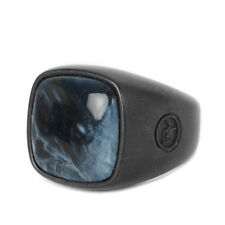 David Yurman Exotic Stone Signet Ring Pietersite Mens Jewelry Authentic Size 9.5