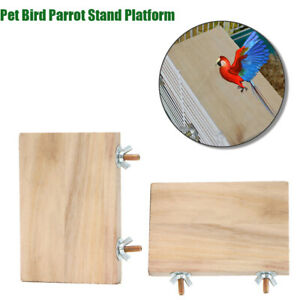 Pet-Parrot-Chew-Toy-Wood-Hanging-Swing-Cages-Parakeet-Stand-Platform-c