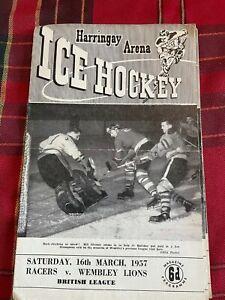 Harringay Arena Ice Hockey Programme 16/03/1957