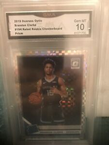 GMA 10 2019-20 Donruss Optic Rated Rookie Brandon Clarke Checkerboard Prizm
