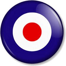 MOD TARGET RAF BADGE CRESTED HARD METAL CHROME PLATED TOBACCO TIN MILITARY